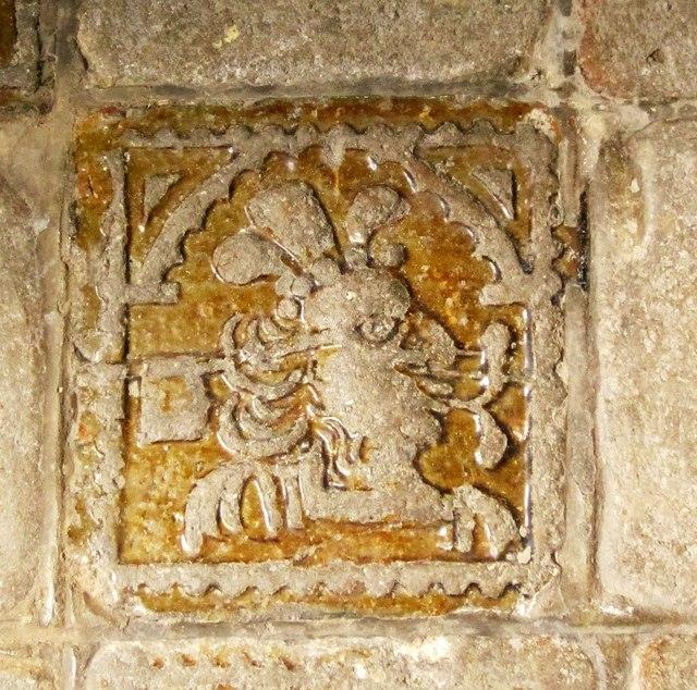 Tile, St Matthew's church, Coldridge