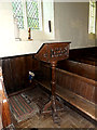 TM3377 : Lectern of St.Margaret of Antioch Church by Adrian Cable