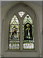 TM3377 : Stained Glass Window of St.Margaret of Antioch Church by Adrian Cable