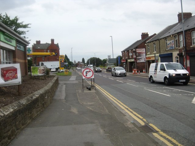 The A167 heading through Birtley in Tyne and Wear