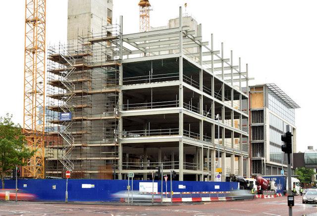 "Block ""B"", University of Ulster site, Belfast - July 2014(1)"