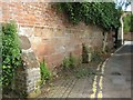 SO8933 : Remains of a sandstone wall by Philip Halling