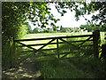 TM1589 : Public footpath to Woodrow Lane by Evelyn Simak