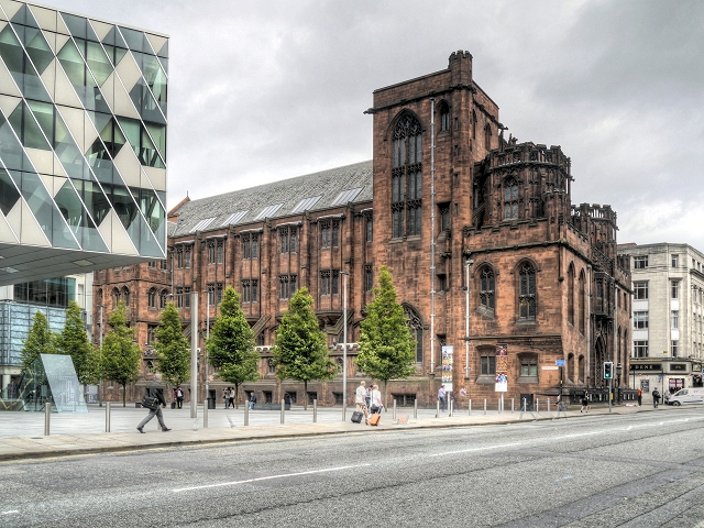 Deansgate, The John Rylands Library