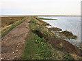 TG0244 : Sea wall damage around Blakeney Fresh Marsh by Hugh Venables