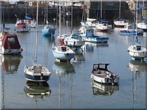 SW4730 : Boats in Penzance harbour by David Hawgood