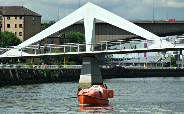 Lifeboat on the Clyde in Glasgow