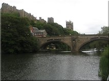 NZ2742 : Durham Cathedral and Castle hover over the bridge across the River Wear by James Denham