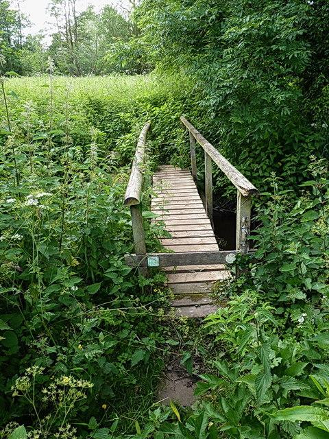 Bridleway bridge over the Longnor Brook
