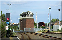 TA2609 : Level crossing and signal box on Garden Street by JThomas