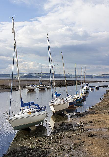 Yachts moored at Cramond