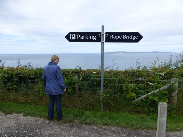 Sign, Carrick-a-rede