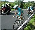 SK2495 : Tour De France stage 2 race leader on Mortimer Road by Steve  Fareham