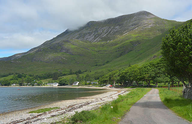 The Corran road leaving Arnisdale