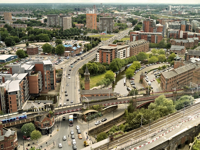 Chester Road (A56), Castlefield