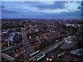 SJ8397 : Night Scene, South Manchester by David Dixon