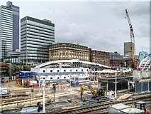 SJ8499 : Manchester Victoria Station Redevelopment, July 2014 by David Dixon