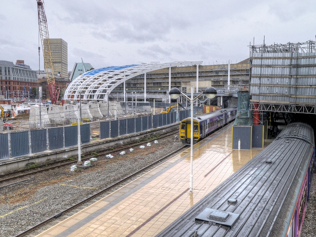 Construction Work at Manchester Victoria Station
