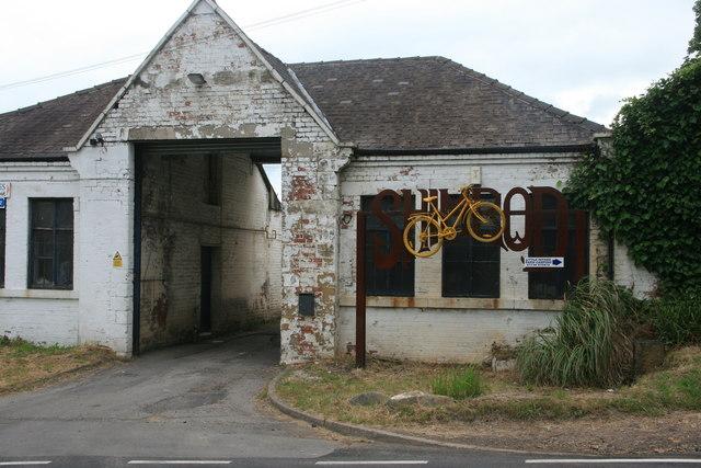 Yellow bikes promoting 'Le Grand Départ': Oughtibridge