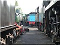 SU6332 : In between the lines in the loco yard at Ropley Station by Christine Johnstone