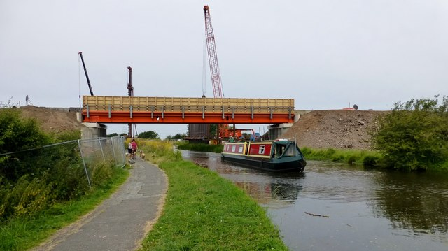New Temporary Bridge Over Lancaster Canal