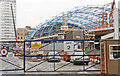 TQ3079 : Waterloo Station during construction of International station, 1992 by Ben Brooksbank