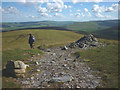 SD8495 : The Pennine Way at Crag End Beacon by Karl and Ali
