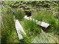 SE1400 : Broken bridge at Netherhead Clough by Graham Hogg
