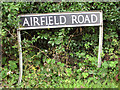 TM0784 : Airfield Road (sign) by Evelyn Simak