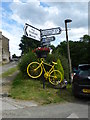 SK2691 : Yellow bikes promoting 'Le Grand Départ': Low Bradfield by Graham Hogg