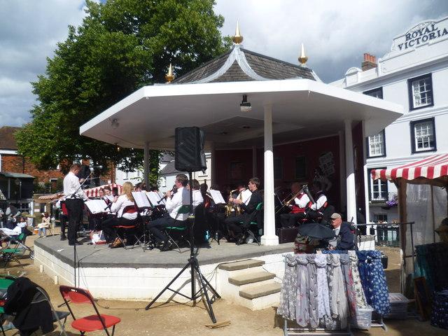 The bandstand on the Pantiles, Tunbridge Wells