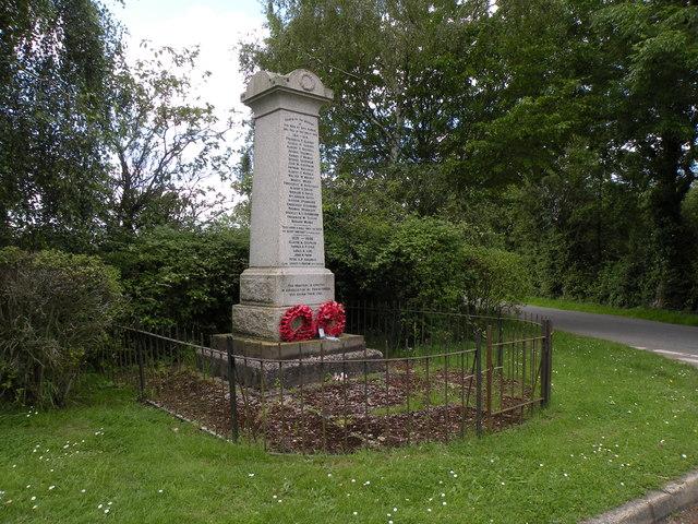 The War Memorial at Wetheringsett