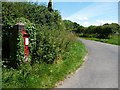 SU6427 : Ivy-covered postbox at the crossroads by Christine Johnstone