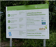 SK5501 : Sign at the Lubbesthorpe Brook Flood Alleviation Scheme by Mat Fascione