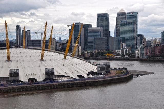 London : Newham - River Thames &  O₂ Arena