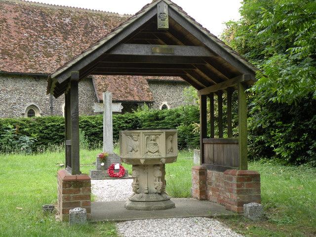 The lychgate at All Saints church, Debach