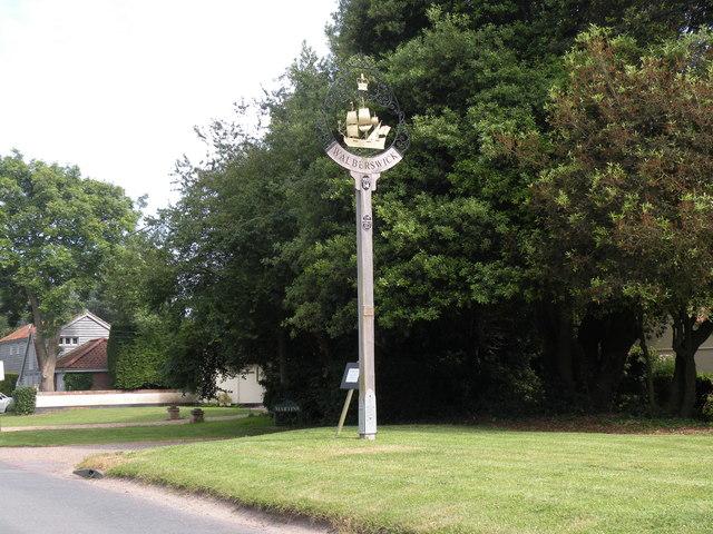 The village sign at Walberswick