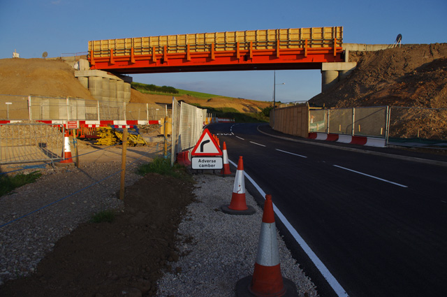 Temporary bridge over Slyne Road (A6)