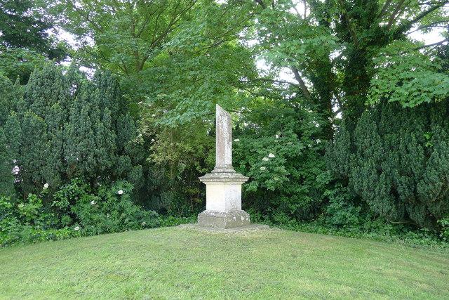 Monument to Sir Robert Heron (baronet) Stubton