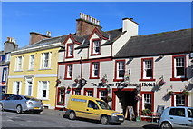 NX4355 : The Wigtown Ploughman Hotel, South Main Street, Wigtown by Leslie Barrie