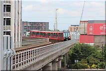 TQ3880 : Docklands Light Railway, East India by Oast House Archive