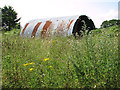 TG3919 : The remains of a Nissen hut by Evelyn Simak