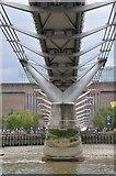 TQ3280 : London : City of London - River Thames & Millennium Bridge by Lewis Clarke