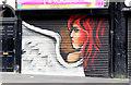 J3374 : Decorated shutter door, Belfast (July 2014) by Albert Bridge