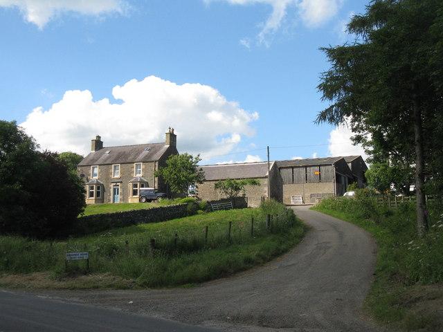 Farmhouse and buildings at Burnhouse Mains
