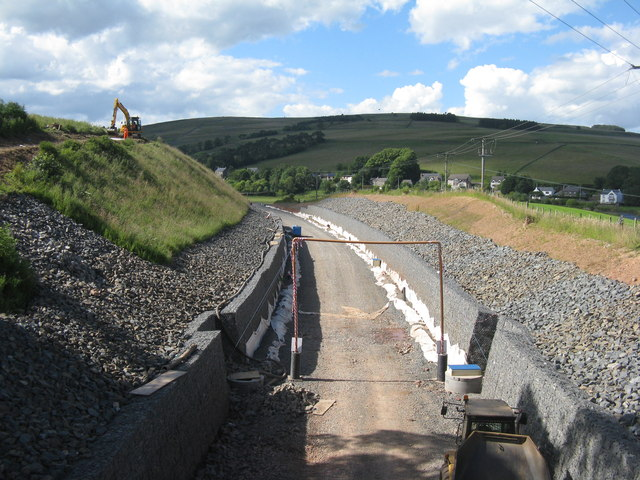Railway cutting at Stow