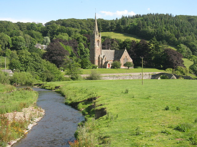 The Gala Water and Wedale Church at Stow
