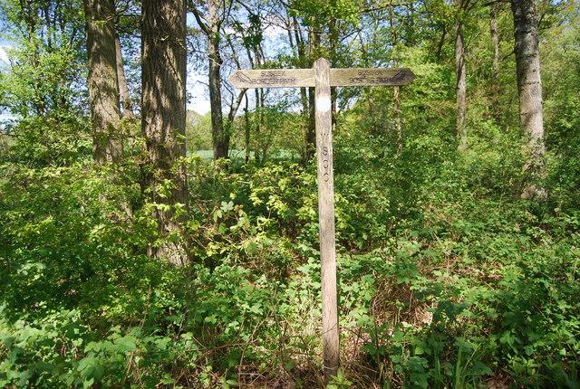 Sussex Border Path signpost