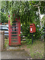 SU6385 : Telephone kiosk and postbox, Ipsden by Alan Murray-Rust