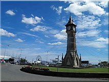 TF5663 : Skegness clock tower by Steve  Fareham